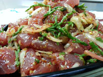 Fresh Made Poke at Overland Meat & Seafood Lake Tahoe