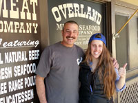 2014 Olympian Maddie Bowman gets her meat and seafood at Overland Meat & Seafood Co., Lake Tahoe, CA